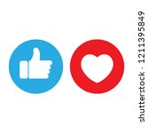 flat hand like social network... | Shutterstock .eps vector #1211395849