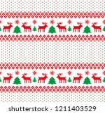 new year's christmas pattern... | Shutterstock .eps vector #1211403529