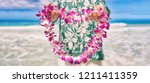 hawaii welcome hawaiian lei... | Shutterstock . vector #1211411359