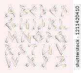 vector rose gold letters....   Shutterstock .eps vector #1211420410