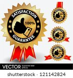 satisfaction guarantee label | Shutterstock .eps vector #121142824