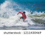 jaco beach  costa rica  october ... | Shutterstock . vector #1211430469