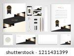 set of office documents for... | Shutterstock .eps vector #1211431399