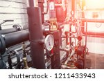 house heating system with many... | Shutterstock . vector #1211433943