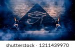 anubis of ancient egypt  god of ... | Shutterstock . vector #1211439970