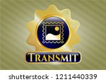 gold emblem or badge with... | Shutterstock .eps vector #1211440339