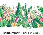 exotic natural vintage... | Shutterstock . vector #1211442403