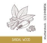 sandal wood. leaf  flower.... | Shutterstock . vector #1211448856