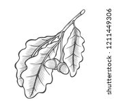 engraving illustration of... | Shutterstock . vector #1211449306