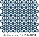 ottoman tile   tezhip motifs... | Shutterstock .eps vector #1211464063