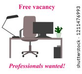 professionals wanted. free... | Shutterstock . vector #1211476993