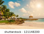tropical paradise. dominican... | Shutterstock . vector #121148200