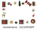 close up view of nice christmas ... | Shutterstock . vector #1211491009