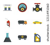 petrol transport icon set. flat ... | Shutterstock .eps vector #1211491060