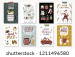 set of creative 8 journaling... | Shutterstock .eps vector #1211496580
