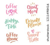 set of hand drawn lettering... | Shutterstock .eps vector #1211498416