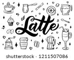 hand lettering name of coffee...   Shutterstock .eps vector #1211507086