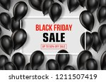 black friday sale poster with... | Shutterstock .eps vector #1211507419