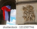 a part of the triumphal arch of ... | Shutterstock . vector #1211507746