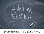 annual review sign   white...   Shutterstock . vector #1211507749