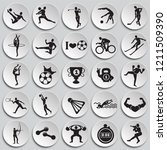 sport disciplines set on color... | Shutterstock .eps vector #1211509390