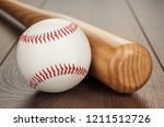 closeup of baseball bat and... | Shutterstock . vector #1211512726