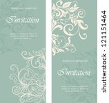 beautiful floral invitation... | Shutterstock .eps vector #121151464