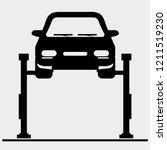 car lift icons | Shutterstock .eps vector #1211519230