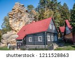 hiking in bohemian switzerland... | Shutterstock . vector #1211528863