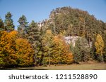 hiking in bohemian switzerland... | Shutterstock . vector #1211528890