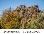 hiking in bohemian switzerland... | Shutterstock . vector #1211528923