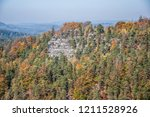 hiking in bohemian switzerland... | Shutterstock . vector #1211528926