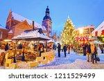 riga  latvia   december 28 ... | Shutterstock . vector #1211529499