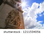 a part of the triumphal arch of ... | Shutterstock . vector #1211534056