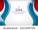usa color flag concept... | Shutterstock .eps vector #1211545720