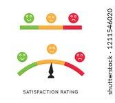satisfaction rate scaling.... | Shutterstock .eps vector #1211546020