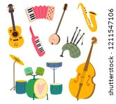 collection of stylized musical ...   Shutterstock .eps vector #1211547106
