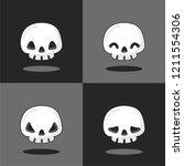 halloween skull character... | Shutterstock .eps vector #1211554306