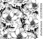 graphic seamless pattern with... | Shutterstock . vector #1211558326