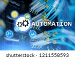 automation of business process... | Shutterstock . vector #1211558593
