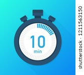 the 10 minutes  stopwatch...   Shutterstock .eps vector #1211563150