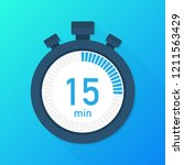the 15 minutes  stopwatch... | Shutterstock .eps vector #1211563429