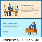 phone negotiations and business ... | Shutterstock .eps vector #1211572630