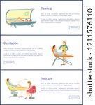 tanning spa salon procedures... | Shutterstock .eps vector #1211576110