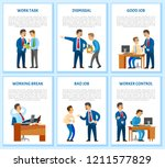 work task and order  employee... | Shutterstock .eps vector #1211577829