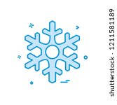 christmas snowflakes icon... | Shutterstock .eps vector #1211581189