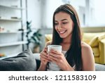 good morning  attractive young... | Shutterstock . vector #1211583109