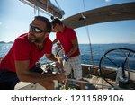 poros  greece   oct 9  2018 ...   Shutterstock . vector #1211589106