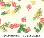 tropical background. green ... | Shutterstock .eps vector #1211590366