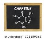 chemical formula of caffeine on ... | Shutterstock . vector #121159363